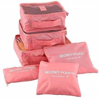 SXDHK Travel Packing Luggage Zipper Bag and Laundry Pouch Set Of 6 (multi color)