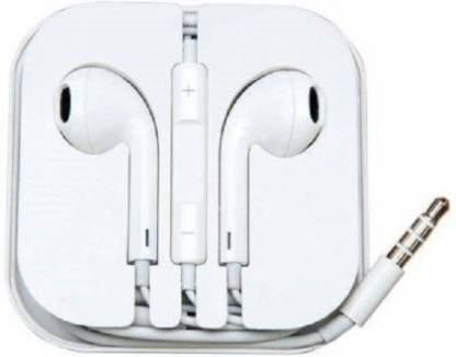 AVMART EARPHONE Wired Headset with Mic (White, In the Ear) Wired Headset