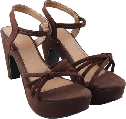 KADY Women Brown Heels