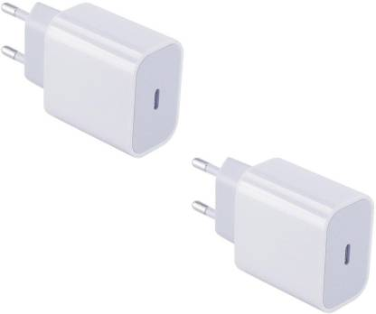 House Of Sensation Set of 2 USB Type-C Fast Charger Indian Style/EU Plug Duck USB Adapter