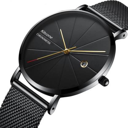 Kitcone Men Watches Boys Watches - Blk Cr Men watch Boys Watches Professional Casual Date & TIme Display Watch Analog Watch - For Men