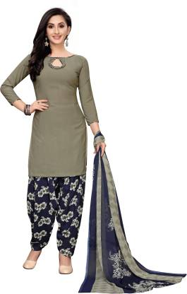 Oomph! Georgette Printed Salwar and Dupatta Material  (Unstitched)