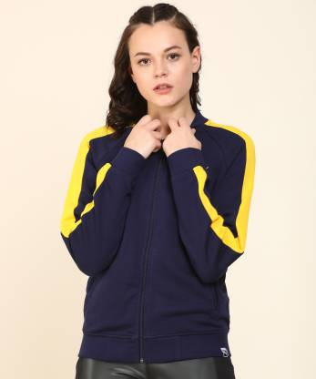 Full Sleeve Color Block Women Jacket