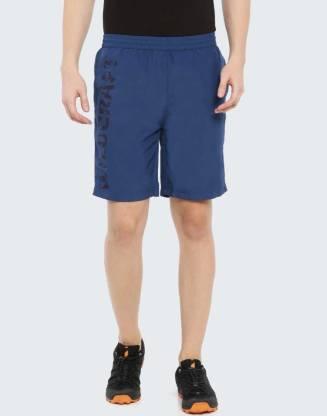 Wildcraft Printed Men Blue Sports Shorts