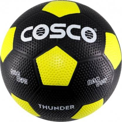 Cosco Thunder Football   Size: 5   Pack of 1, Black, Yellow  Cosco Footballs
