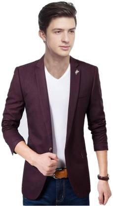 Personality plus Solid Single Breasted Festive, Party, Casual, Wedding Men Blazer