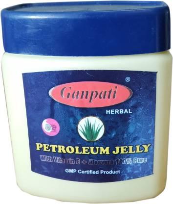 GANPATI HERBAL Petroleum Jelly with Vitamin E + Aloevera 100% Pure