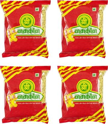 Shree Namkeen Ratlami Sev - Indore Special, Medium Spicy Crispy and Crunchy - Pack of 4, 400gm each (Ratlami Sev)