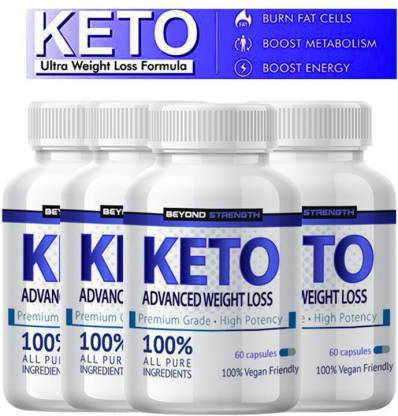 Herbal max Premium Keto Advance for Natural & Organic Weight Management - 60 Caps (Pack of 4)