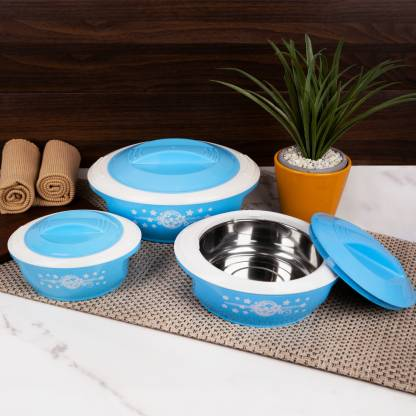 Flipkart SmartBuy Classic Pack of 3 Thermoware Casserole Set