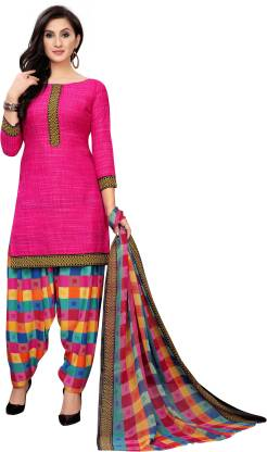Oomph! Georgette Printed Salwar and Dupatta Material