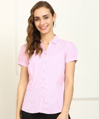 Annabelle by Pantaloons Women Printed Casual Pink Shirt