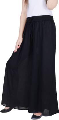 Adesa Flared Women Black Trousers