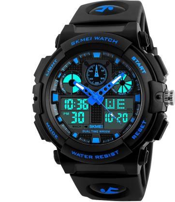 Skmei 1270 Black Digital Analog Sports NEW ARRIVAL SELLING FAST AND TRACK DESIGNER SPORTS WATCH FOR PARTY_PROFESSIONAL_DIWALI_FESTIVAL SPECIAL WATCH FOR MAN _WOMAN_BOYS Analog-Digital Watch - For Men