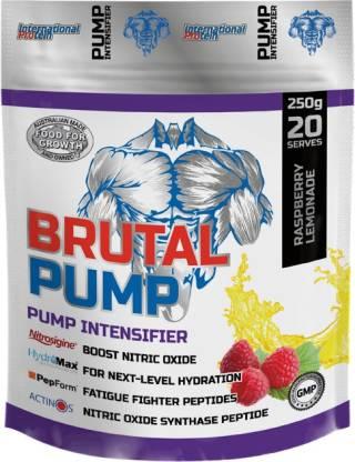 International Protein Brutal Pump Pouch RaspLemon Mockup Creatine