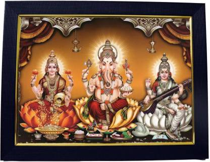 99crafts Goddess Lakshmi Ganesha Saraswati Photo Frame Religious Frame Price In India Buy 99crafts Goddess Lakshmi Ganesha Saraswati Photo Frame Religious Frame Online At Flipkart Com
