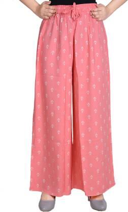 Adesa Regular Fit Women Pink Trousers