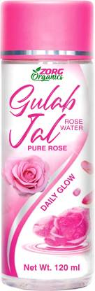 Zorg Organics 100% Natural Rose Water (Gulab Jal) For Face & Skin Care (No Alcohol, Chemical & Paraben Free)