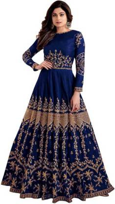 Mohnish Fashion Women A-line Blue Dress