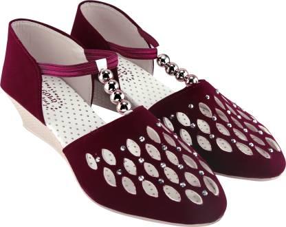 Clover Women Maroon Heels