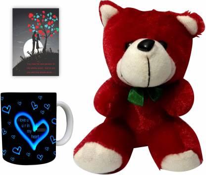 Decor Production Soft Toy, Mug, Greeting Card Gift Set