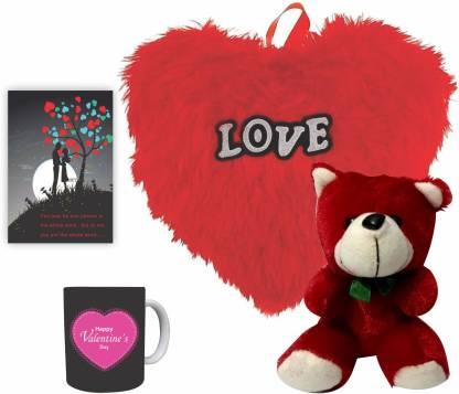 Decor Production Soft Toy, Mug, Cushion, Greeting Card Gift Set