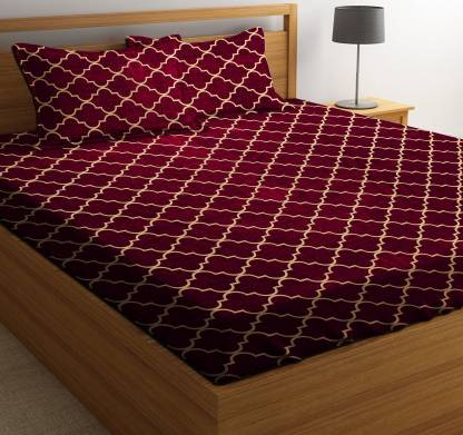 RS Quality 144 TC Microfiber Double Printed Bedsheet