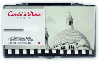 Cont Paris Conté à Paris 12 Count HB Sketching Crayons Set, White [CAT_397097]