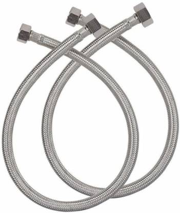 Starford Pack of 2 Hot & Cold Heavy Duty PVC/Stainless Steel Connection Pipe Hose Pipe