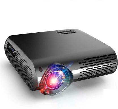 myra Q2 Full HD Projector 4k 2k Full HD 1080P 5200 Lumen Led Projector with HiFi Speaker (HDMI/USB/VGA/AV Ports) Portable Projector (Black) Portable Projector (Black Basic) Portable Projector