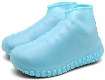 UNIQUE ENTERPRISE Waterproof Rain Boot Shoes Cover/Rain boots/Shoes cover/Reusable Foldable/Resistant Overshoes with Excellent Elasticity/Water and Dust proof Shoes cover/Suitable for adults and children Silicone BLUE Boots Shoe Cover, High Ankle Shoe Cover, Flat Shoe Cover