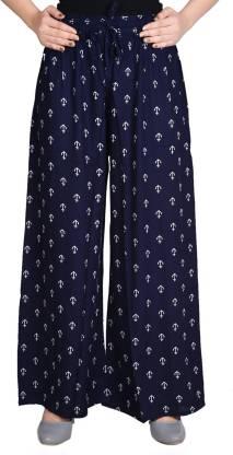 Adesa Regular Fit Women Dark Blue Trousers