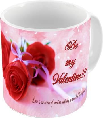AMKK Valentine Gift Set For Girlfriend, Boyfriend, Husband and Wife A-159 Ceramic Coffee Mug