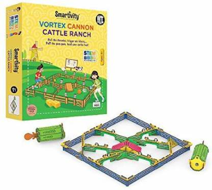 Smartivity Vortex Cannon Cattle Ranch For 6+ Years Boys And Girls, Stem, Learning, Educational And Construction Activity Toy Gift