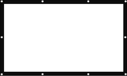 Technolite 84 Inch Diagonal, 6x4 Feet 4:3 UHD-3D-4K Technology Eyelets Type Projector Screen (Width 182 cm x 123 cm Height)