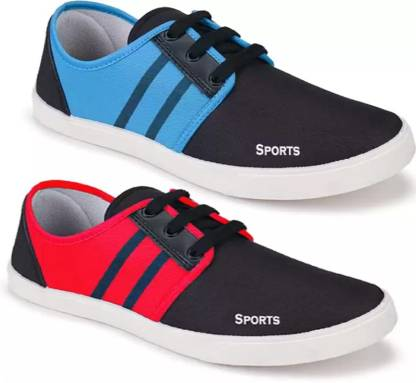 Axter Combo Pack of 2 Latest Collection Stylish Casual Loafer Sneakers Shoes For Men Casuals For Men