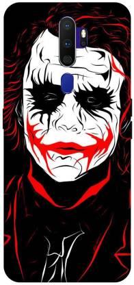 UMPRINT Back Cover for Joker, Art Joker Heath Ledger, Comic, Texture, Black