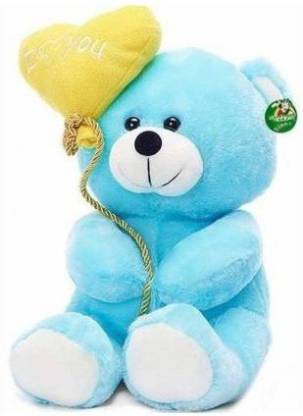 ToyKing Soft sweet and soft Love balloon Blue teddy Bear  - 29.400000000000002 cm