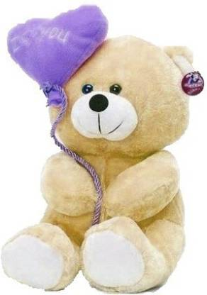 ToyKing Soft sweet and soft Love balloon Brown teddy Bear  - 29.400000000000002 cm