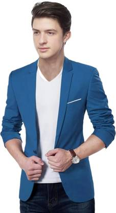 The club Solid Single Breasted Party, Formal, Casual Men Blazer