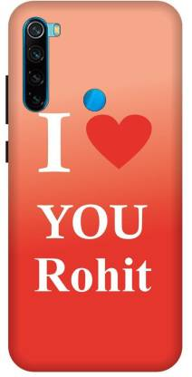 TPM Back Cover for Mi Redmi Note 8 Printed I Love You Rohit Back Cover