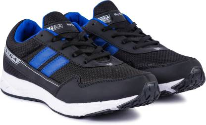 SEGA 26-Black-Marathon Running Shoes Running Shoes For Men