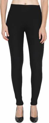 Solid Women Black Tights