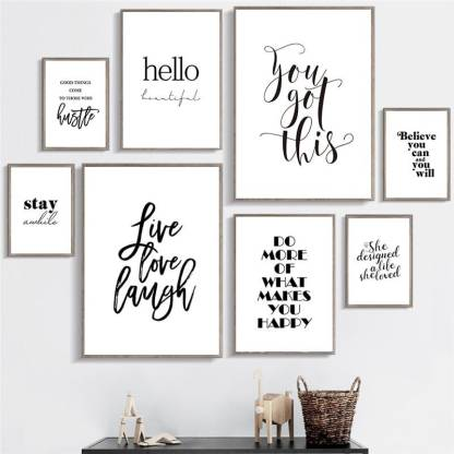 Quotes About Life Inspiring Wall Art