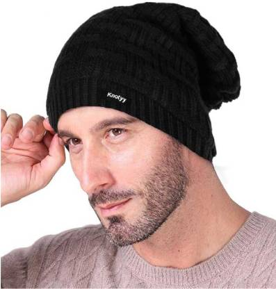 Knotyy Solid Beanie Cap
