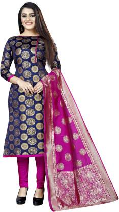 MANIKARNIKA Brocade Self Design Salwar Suit Material