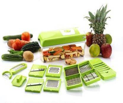 AGROBOTICS 12 IN 1 NICER DICER Vegetable & Fruit Chopper (1- UNIT OF NICER DICER WITH 12 BLADES) Vegetable & Fruit Chopper (pack of 1) Vegetable & Fruit Chopper (1 set of chopper) Vegetable & Fruit Chopper