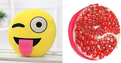 Supreme Home Collective Microfibre Fruits Cushion Pack of 2