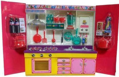 kids collection Sweet Modern Kitchen set with flashing top light and music