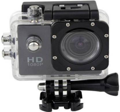 ulfat HD Action Shot Full HD 12MP 1080P Black Helmet Sports Action Waterproof Camera AC56 1080P Ultra HD Sports & Action Camera